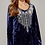 Thumbnail: Navy Velvet Top with Embroidery