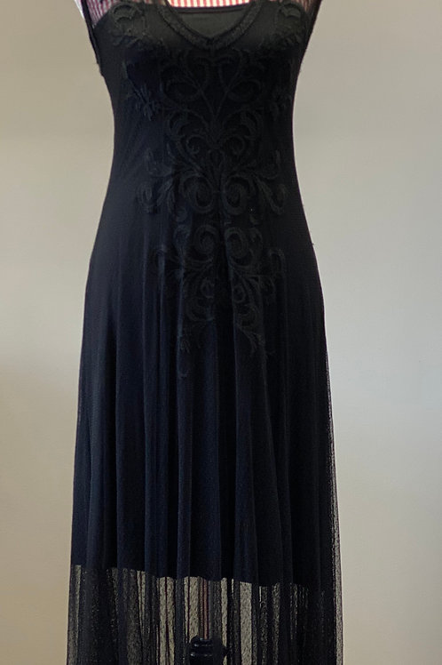 Johnny Was ~ Biya Full Lace Maxi Cap Sleeve