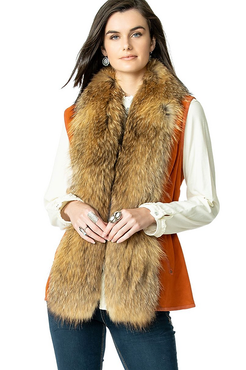 Double D Ranch Hondo Vest ~Shasta Burnt Orange