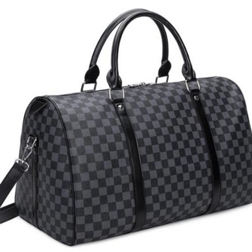 Travel Bag ~ Black Check