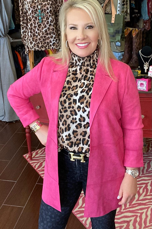 Pretty In Pink Faux Suede Jacket