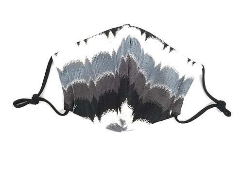 Tie Dye ~ Black ~ Grey ~ Double Layer ~ Insert ~ Adult Mask