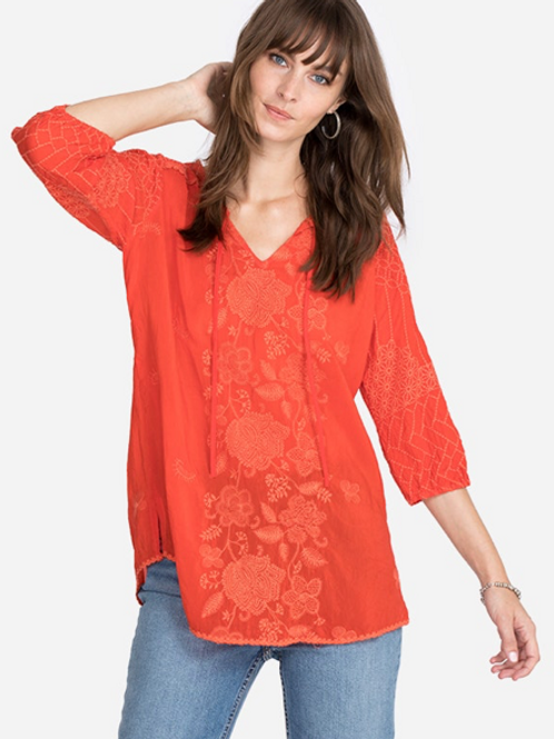 Coral Embroidery JW Top