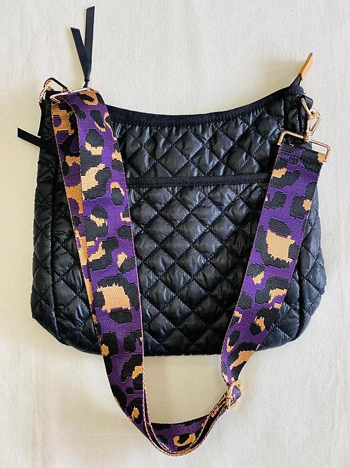 Black Quilted Crossbody ~ Zipper Closure