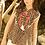 Thumbnail: Cheetah Print Embroidered Top