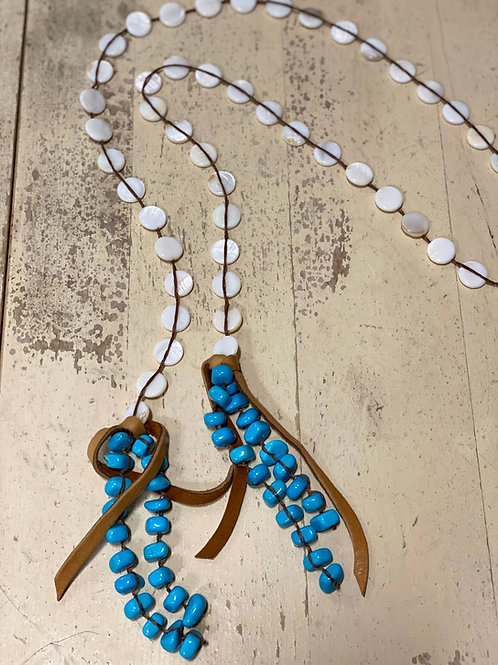 Mother of Pearl with Turquoise Lariat