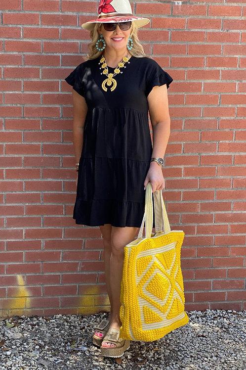 Black Tiered Dress