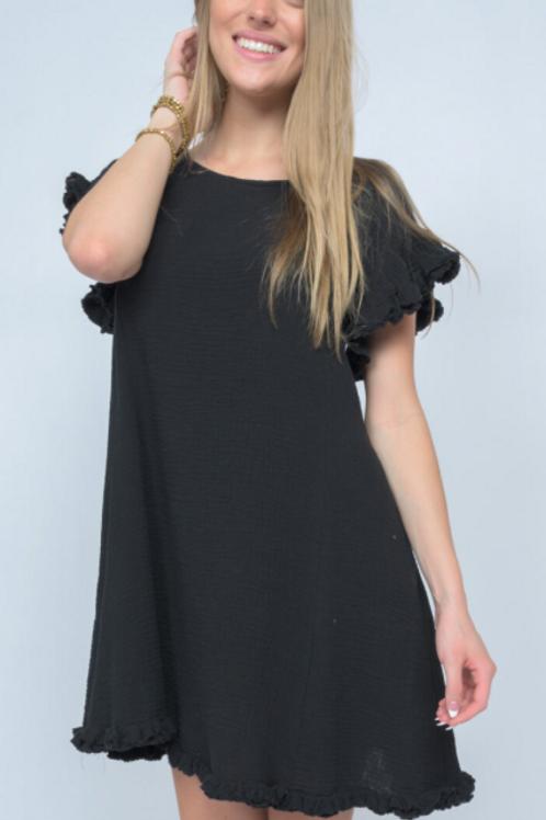 Ivy Jane Fringed and Flounce Dress