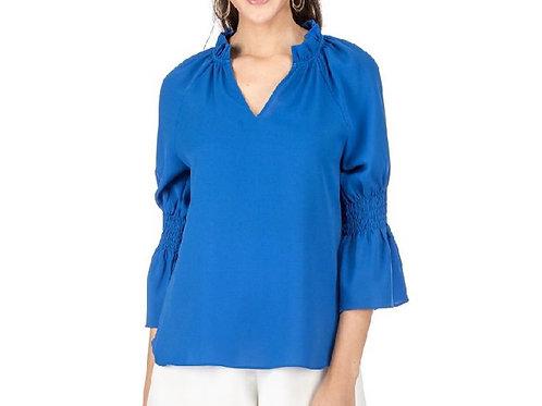 Royal Blue 3/4 Sleeve Top