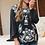 Thumbnail: Black Long Sleeve Embroidery Top