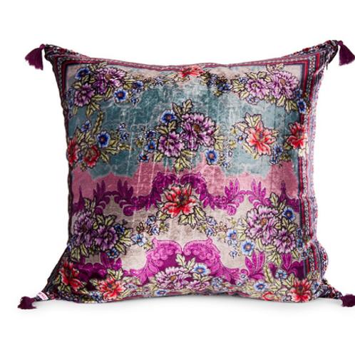 Velvet Tassel Pillow Floral JW