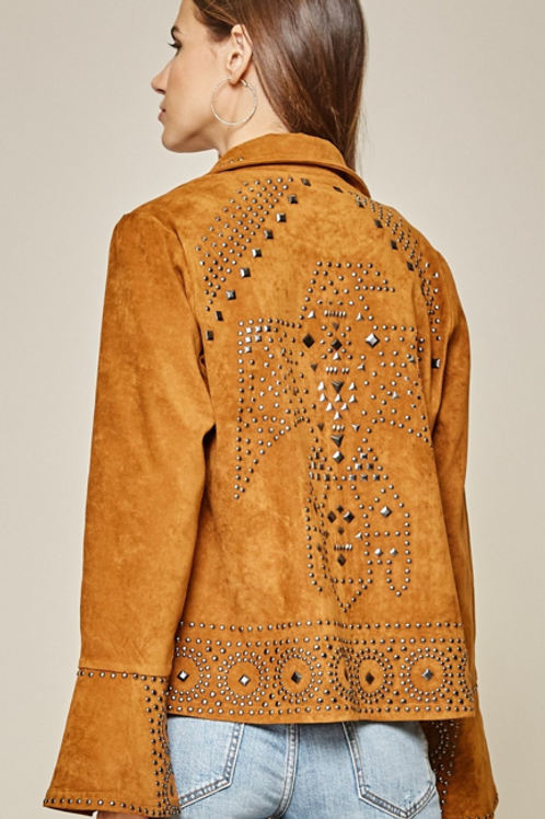 Suede Studded Jacket
