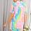 Thumbnail: Neon Tie Dye Top With Button Detail