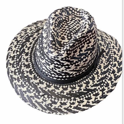 Black & White Straw Hat