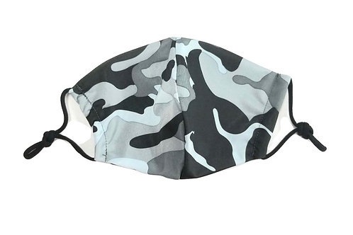 Charcoal Camo ~ Double Layer ~ Insert ~ Adult Mask