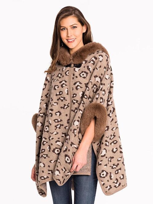 Leopard Cape One Size Fits All ~ Faux Fur