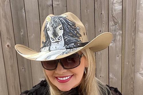 Always bet Grey Cowboy Straw Hat