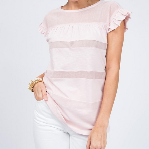 Ivy Jane Blush Top with Ruffle Sleeve
