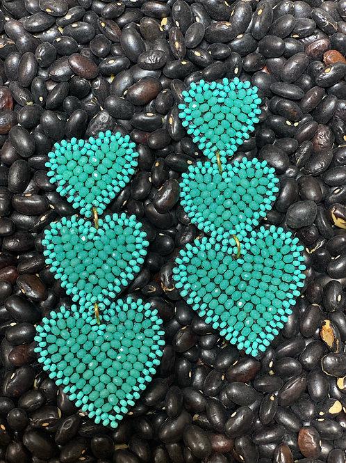 Turquoise Beaded Earring - Post