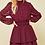 Thumbnail: Wine Sheer Dot Dress