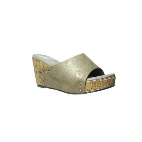 Volatile Pewter Sandal