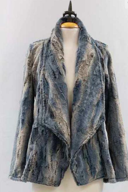 Faux Fur Grey Jacket