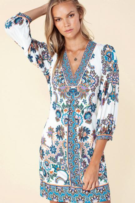 Hale Sky Floral Dress
