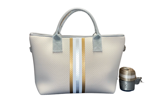 Solid with Silver & Gold Tote