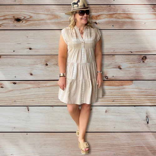 Natural Tiered Dress