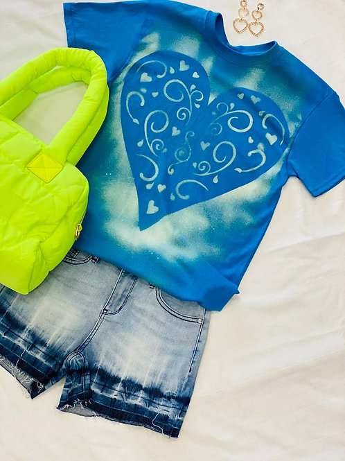 Turquoise Heart Ya Blue T-Shirt