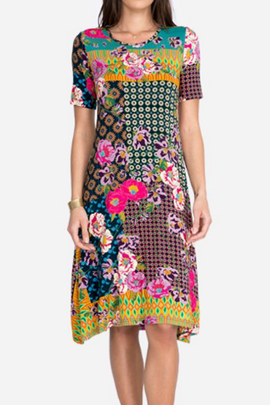 Ultra Soft Bamboo Dress Multi Floral