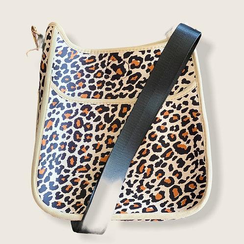 Leopard Perforated Neoprene Messenger
