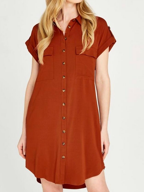 Rust Dress Button Down Or Duster