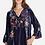 Thumbnail: Blue Iridescent Velvet Embroidery Top