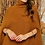 Thumbnail: Camel ~Turtle Neck Poncho ~ One Size