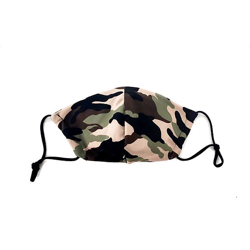 Designer Adult Camo Face Mask, Unisex, Double Layer Cloth