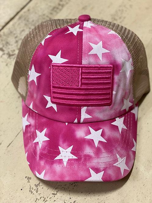 Pink Camo Stars & Stripes Cap