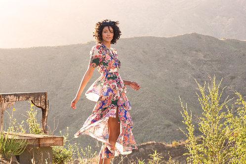 Aaron Ruffel Maxi Dress