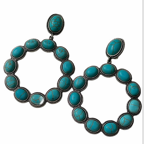 Clip Turquoise Earring