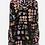 Thumbnail: JW Silk Embroidery Black Tulip
