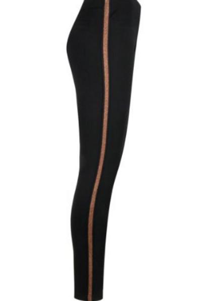 Black Stretch Legging with Stripe