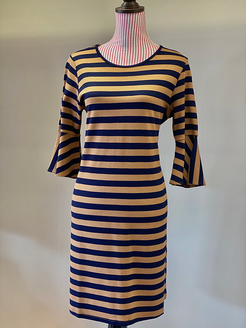 JoyJoy Navy & Tan Dress