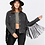 Thumbnail: Black Denim Fringe Jacket