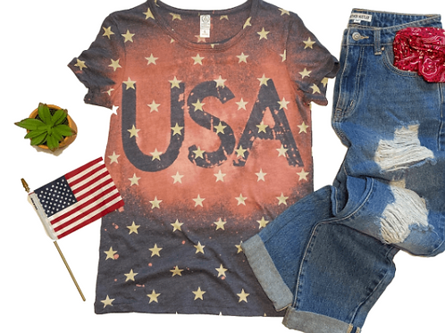 USA Star Tie-Dye T-Shirt