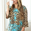 Thumbnail: Leopard with Turquoise Embroidery Top