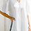 Thumbnail: Solid White Button Down w/ Slit on Side