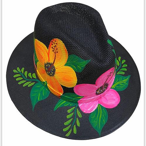 Hibiscus Straw Hat