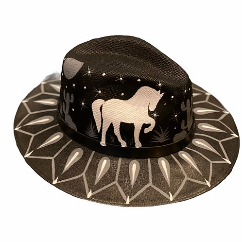 Black Horse Straw Hat