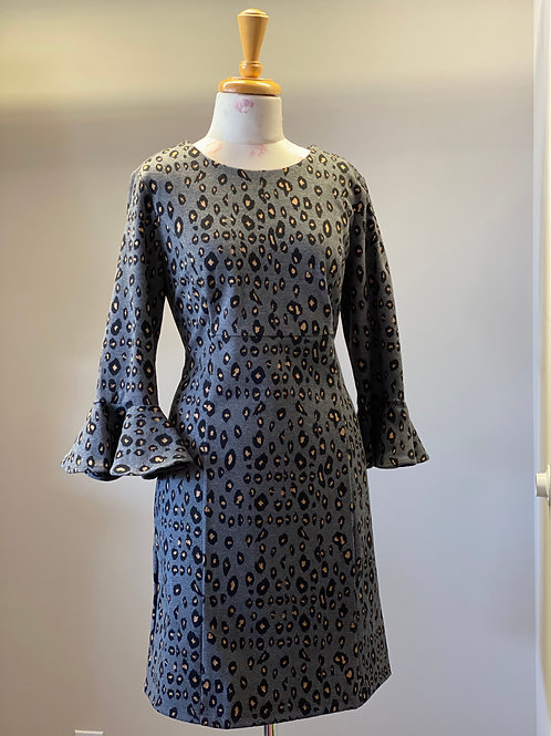 Grey Leopard Dress ~ Jade