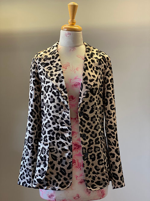 Leopard Satin Jacket